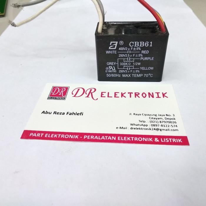 Foto Produk Kapasitor Capasitor 5 kabel 2+3 2.5uf 3uf 2uf 250v 400v dari DR ELEKTRONIK DEPOK