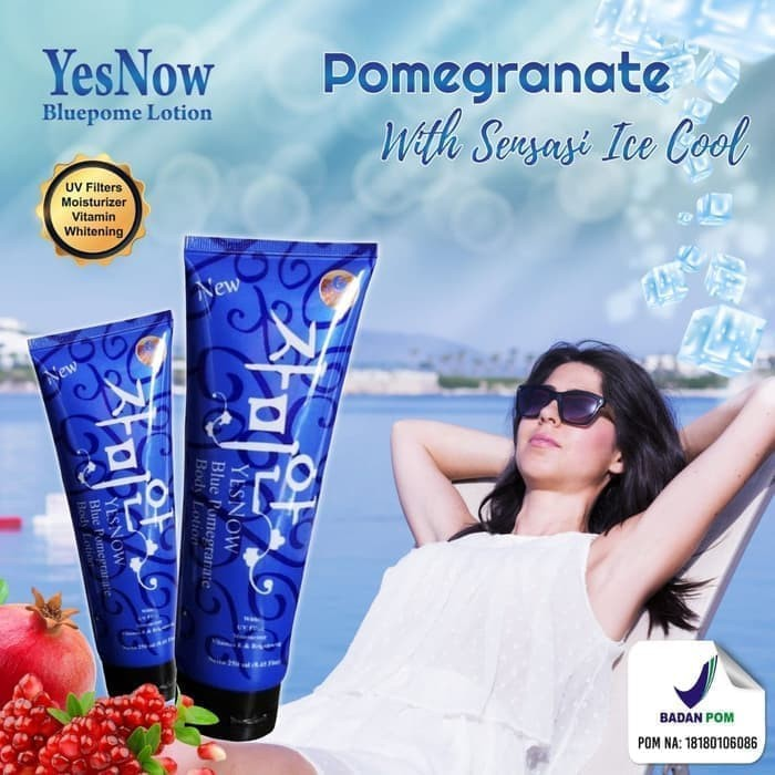 KOSMETIK ONLINE SHOP - (Bluepome) YESNOW Lotion Bluepome Bpom Pomegranate