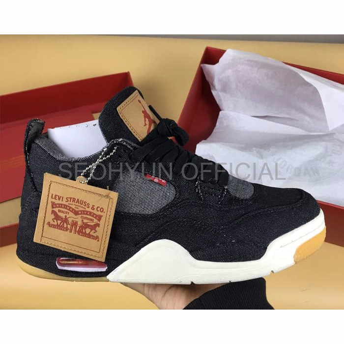 cheaper 48c5b 2765d Jual MIRROR 1 1 Nike Air Jordan IV 4 Levi Denim Black High Premium Origina  - Jakarta Barat - Seohyun Official | Tokopedia