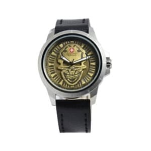 Foto Produk Jam Tangan Swiss Army 3010 Skull Silver Black Gold dari Jingga.Fashion