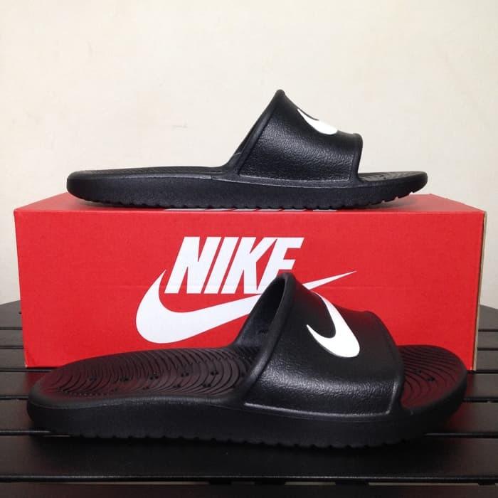 724010ef24d6 Jual Sandal Nike Kawa Shower Black 832528-001 Original BNIB - senna sepatu