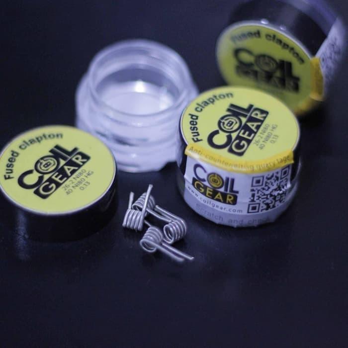 Foto Produk Coil Gear Fused Clapton Ni80 2 Pasang Koil Jadi Kawat Vape Vapor 26 40 dari putra.rak4