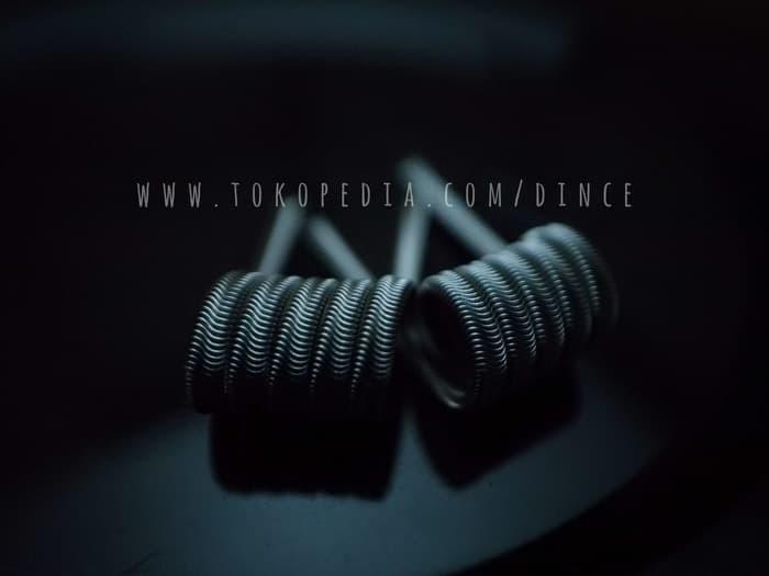 Foto Produk Alien Fused Clapton Full TM Twisted Messes Ni80 TMN80 Coil Vape Vapor dari putra.rak4