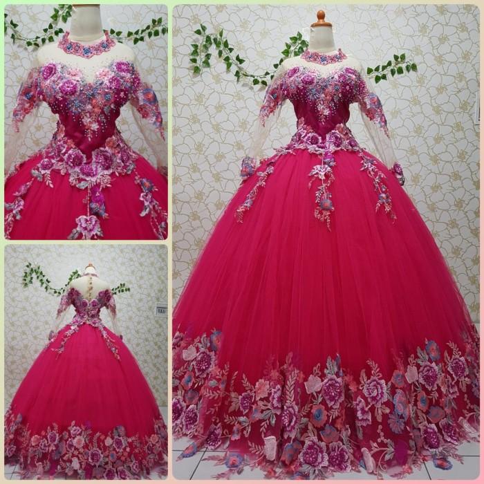 Jual Gaun Kebaya Pengantin Barbie Fanta Pink All Size Ld 90 Bungsu