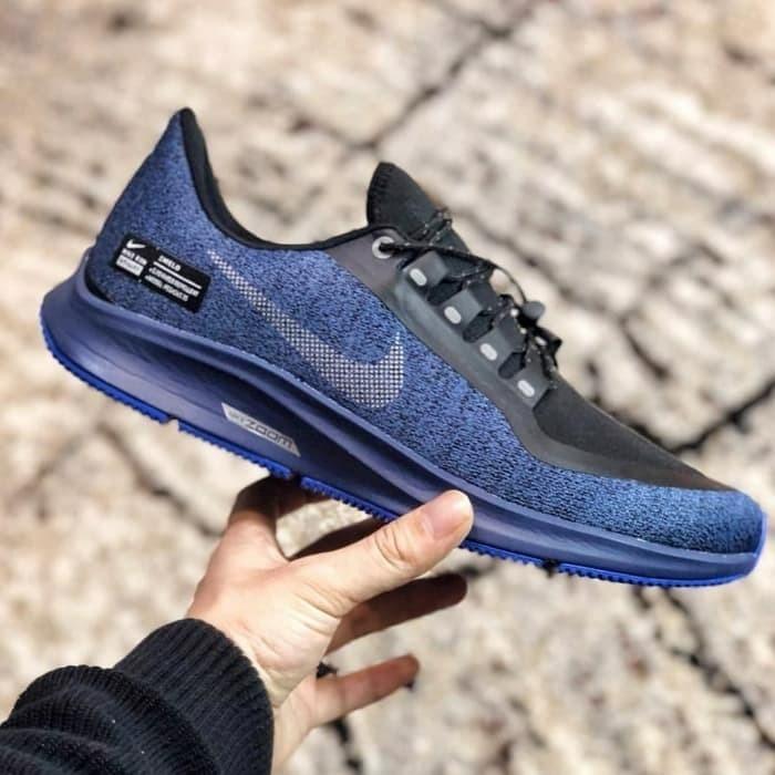 sneakers for cheap 211bb fa74f Jual NIKE AIR ZOOM PEGASUS 35 SHIELD WATER NAVY METALLIC PREMIUM ...