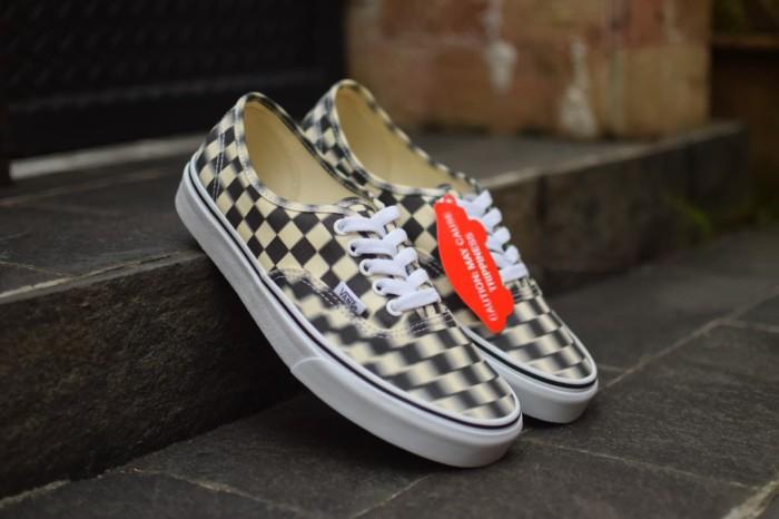 Vans authentic blur check blackwhite