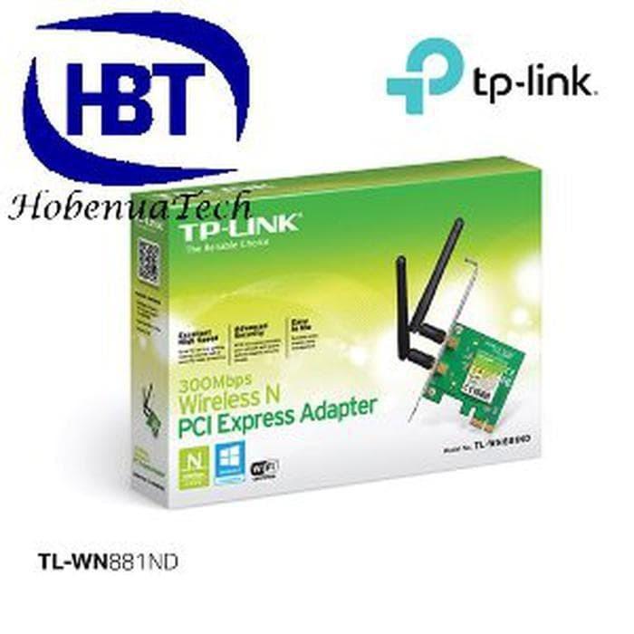 Jual TPLINK TL-WN881ND 300MBPS WIRELESS N PCI EXPRESS ADAPTER WN881 - OLAP  | Tokopedia