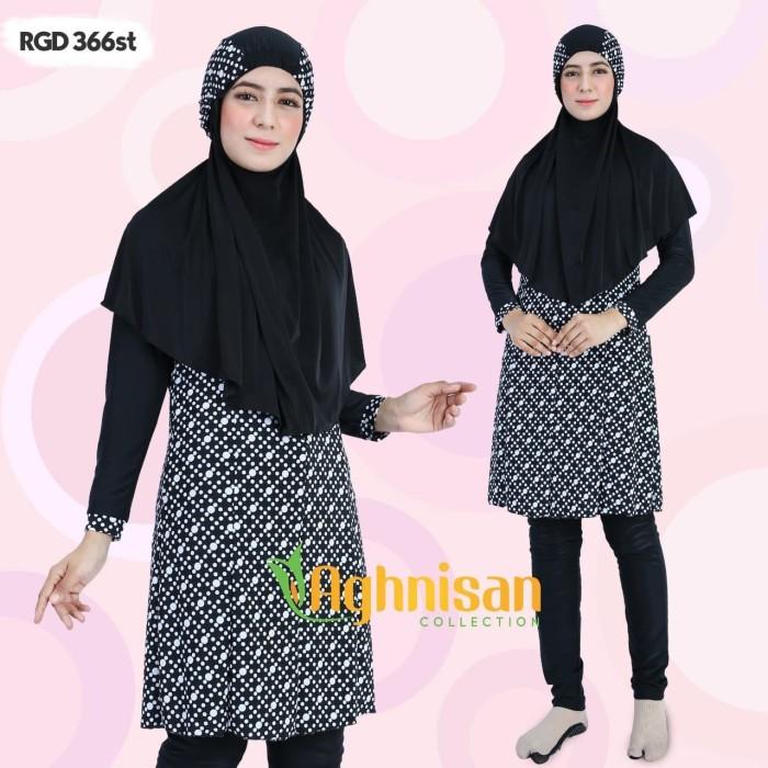 Baju Renang Muslimah Syari Aghnisan / Baju Renang Warna Hitam