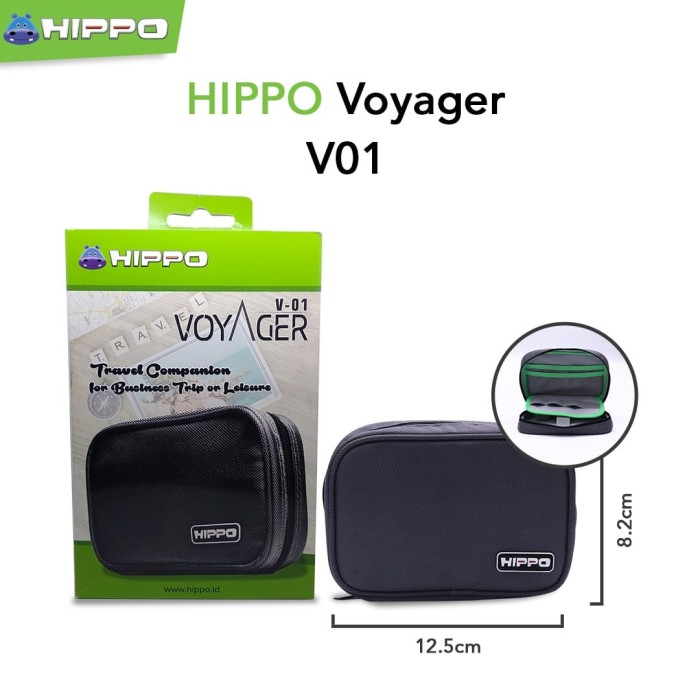 Foto Produk Hippo Voyager V01 Mini Travel Bag ( Tas Power Bank Organizer ) dari Hippo Power Bank