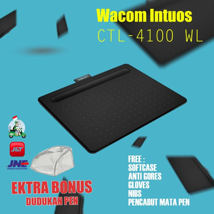 harga Back to school..!! new wacom bletooth intuos ctl4100 free nibs pink Tokopedia.com