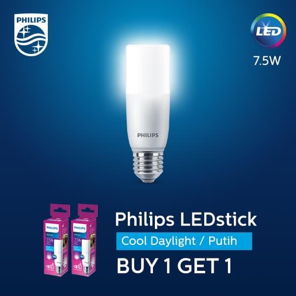 Philips LED Stick 7.5W E27 6500K Putih (2pcs)