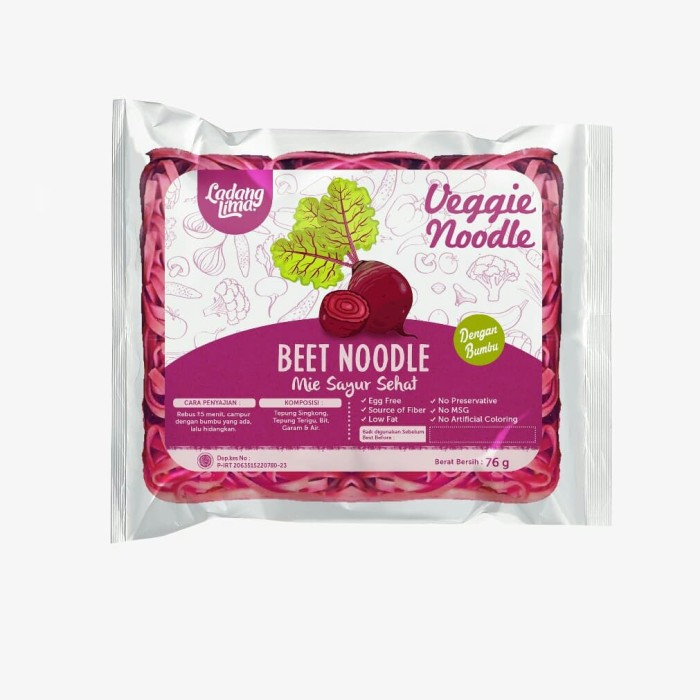 Foto Produk Ladang Lima Beet Noodle dari Goodiebake