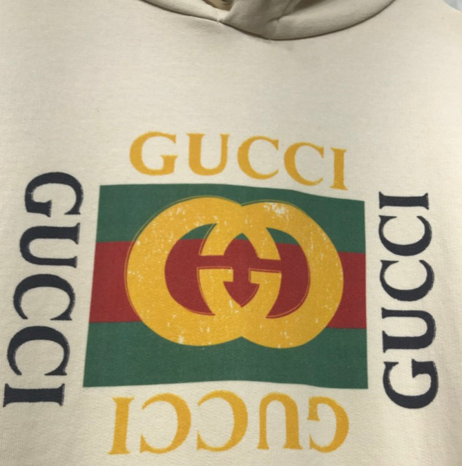 2b91b5ea Jual HOODIE GUCCI VINTAGE LOGO PRINT OVERSIZE 1:1 AUTHENTIC NOT OFF ...