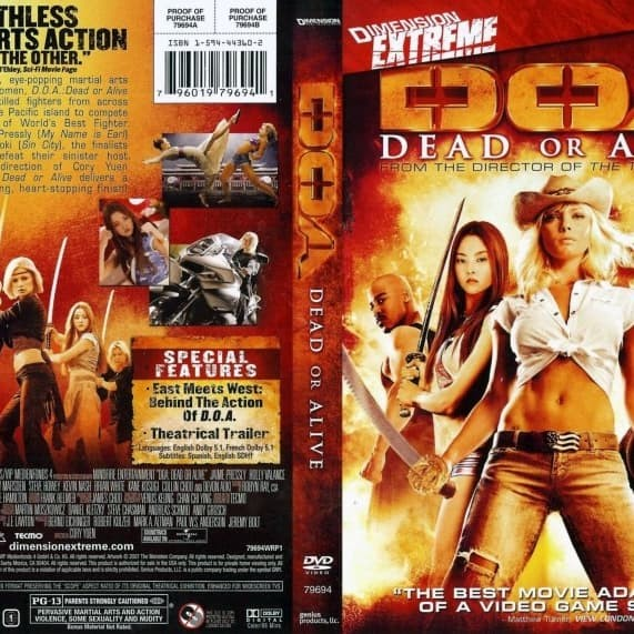 Jual Film Dvd D O A Dead Or Alive 2006 Movie Collection Film