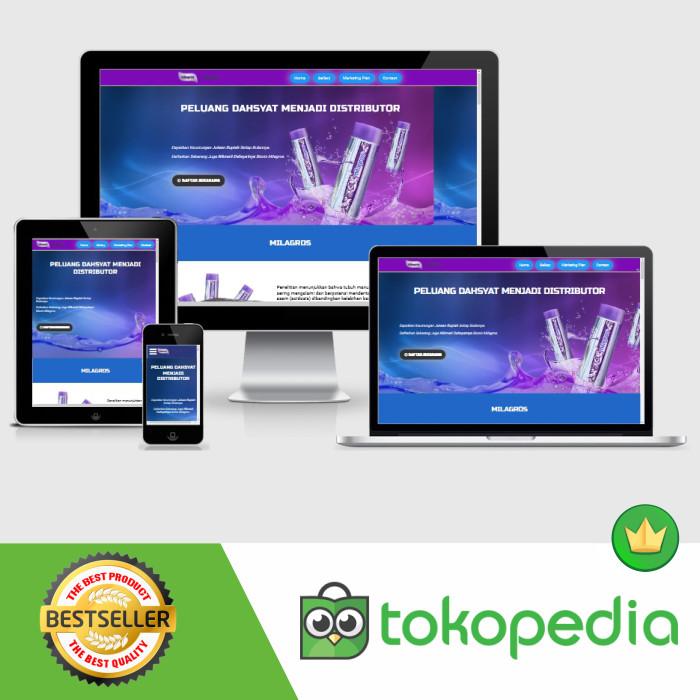 Foto Produk Landing Page Blogspot Milagros Landing page dari IDN TEMPLATE