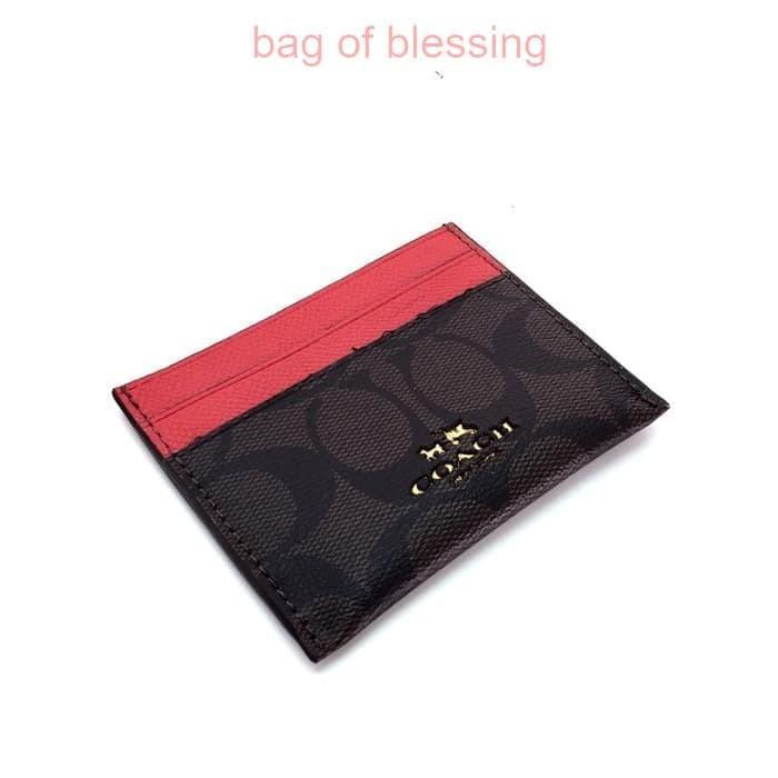 newest 42f73 a0d73 Jual Coach Card Case in Colorblock Leather - Orange - Kota Administrasi  Jakarta Pusat - bag of blessing | Tokopedia