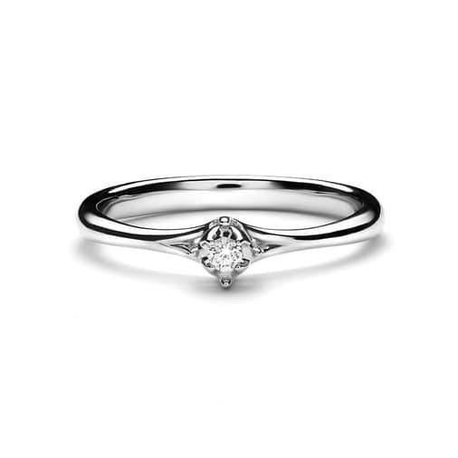 Lino and sons - cincin berlian f vvs (elrica diamond ring) - yellowgold 12