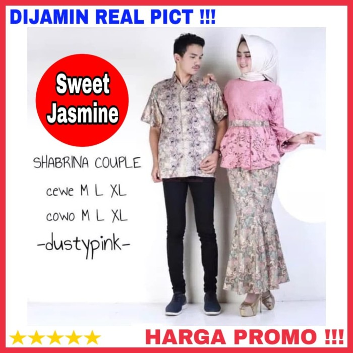 Jual Baju Kebaya Couple Modern Brokat Batik Couple Pesta Lamaran