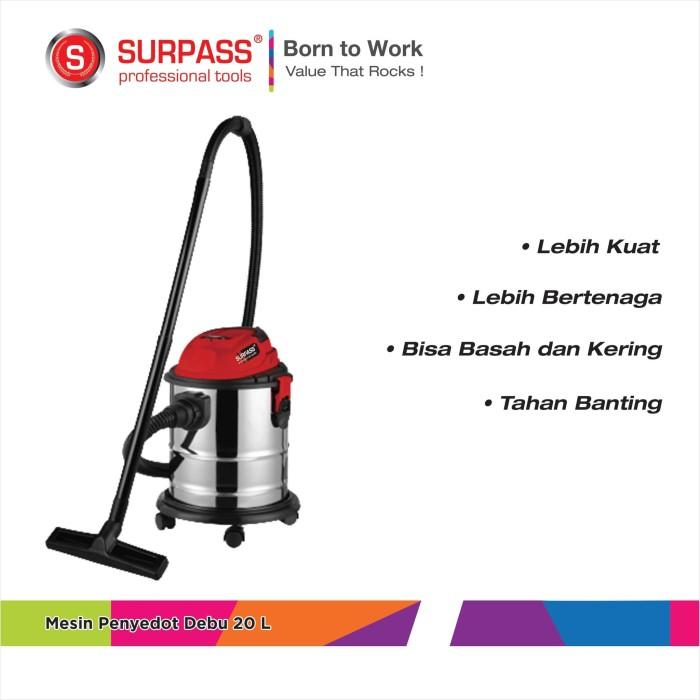 harga Surpass penyedot debu basah kering 20l wet & dry vacuum cleaner 20l Tokopedia.com