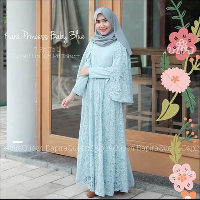Jual Maxi Long Dress Brukat Kebaya Wisuda Kiara Princess Anej Kota Surabaya Dummy Mart Tokopedia