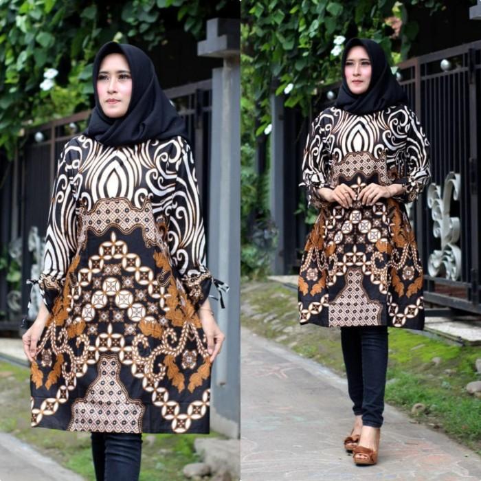 Jual Baju Atasan Tunik Batik Wanita Baju Batik Tunik Kantoran Murah Pcl16 Kota Pekalongan Rizquna Batik Exclusive Tokopedia