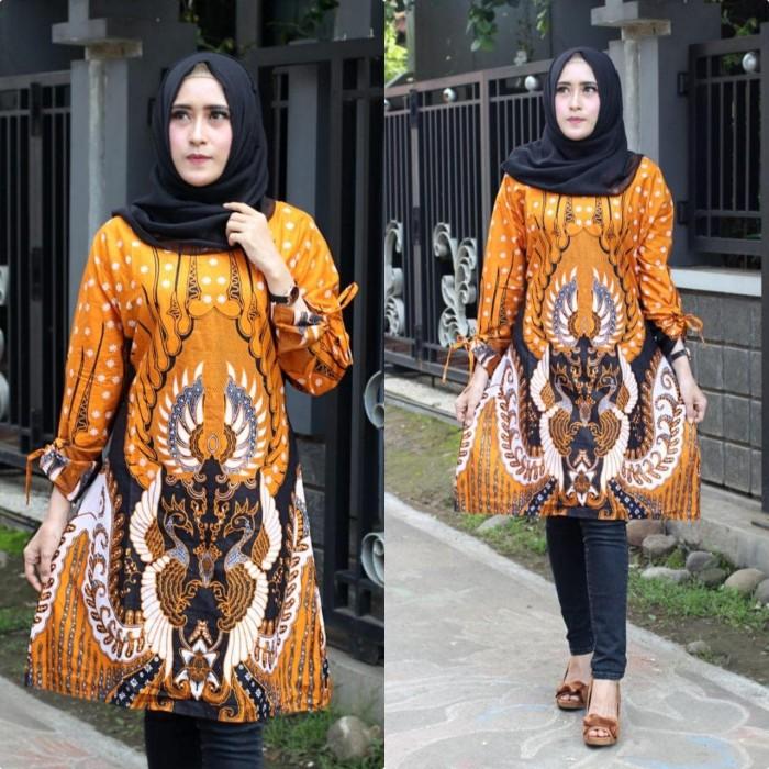 Jual Baju Batik Tunik Atasan Wanita Tunic Dress Batik Kantor Murah Pcl39 Kota Pekalongan Rizquna Batik Exclusive Tokopedia