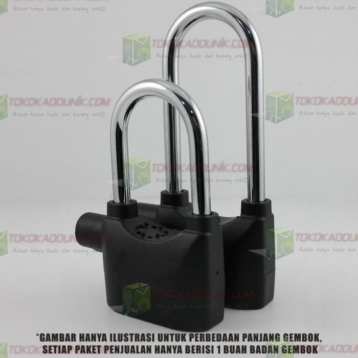 2 In 1 Gembok Alarm Ring Panjang Super Panjang Free Baterai