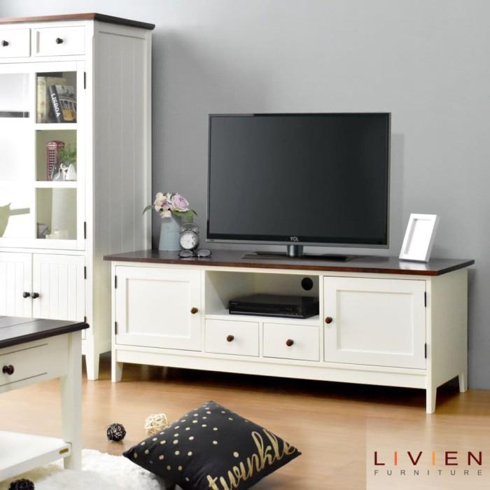 Promo Meja Tv Melody Lemari Tv Rak Tv Livien Furniture Mojokerto Livien Tokopedia