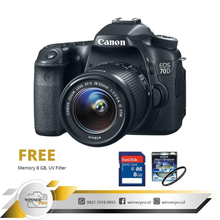 harga Canon eos 70d kit 18-55mm is stm Tokopedia.com