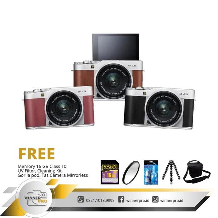 harga Fujifilm x-a5 kit 15-45mm pz - kamera fuji film xa5 paketan Tokopedia.com