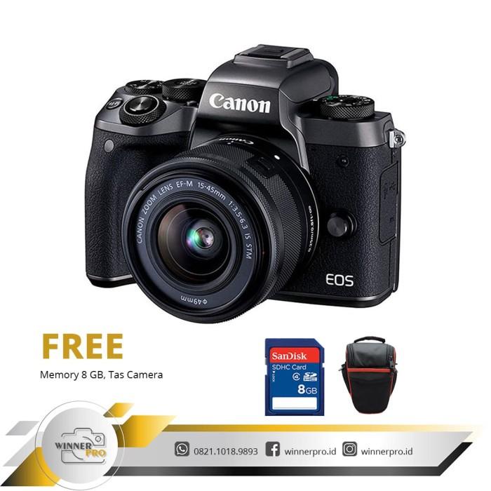 harga Canon eos m5 kit ef-m 15-45mm f/3.5-6.3 is stm + free memory dan tas Tokopedia.com