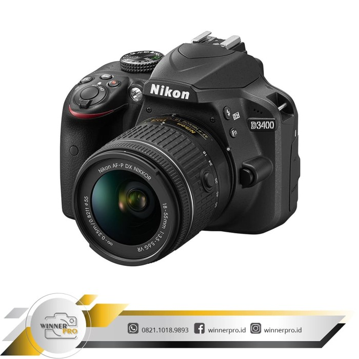 harga Kamera dslr nikon d3400 d 3400 kit af-p 18-55mm vr Tokopedia.com