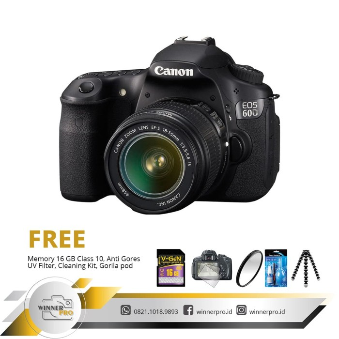 harga Canon eos 60d kit 18-55mm is ii Tokopedia.com