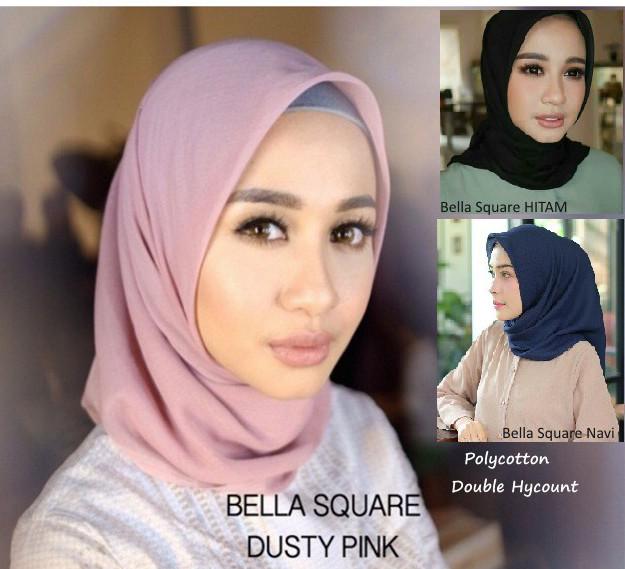 Jual Hijab Kerudung Bella Square Polycotton Jilbab Segi Empat Warna Polos Kota Surabaya Melky Grosir Shop Tokopedia