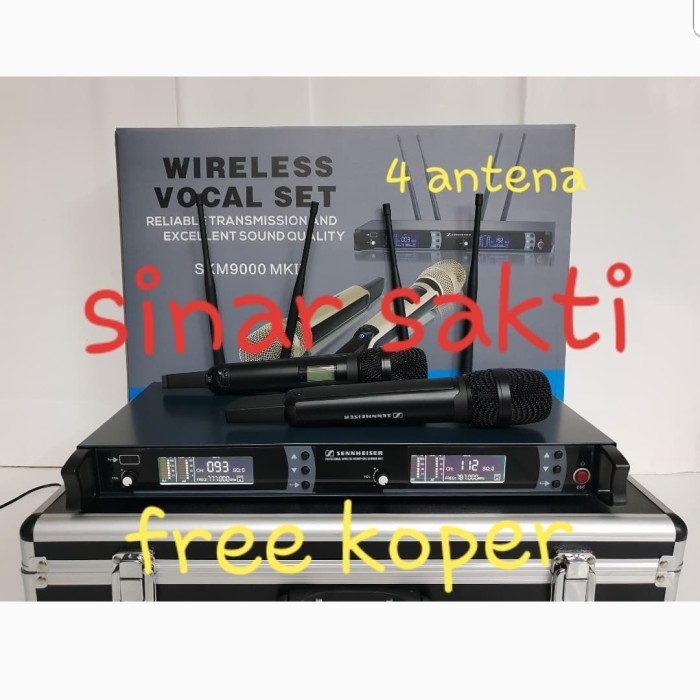 harga Mic wireless sennheiser skm 9000 mk ll 4 antena (bisa ubah frequency ) Tokopedia.com