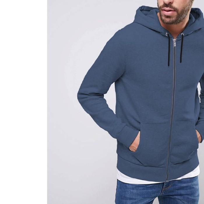 harga Okechuku brown jaket topi olahraga pria / hoodie jacket man basic - navy m Tokopedia.com