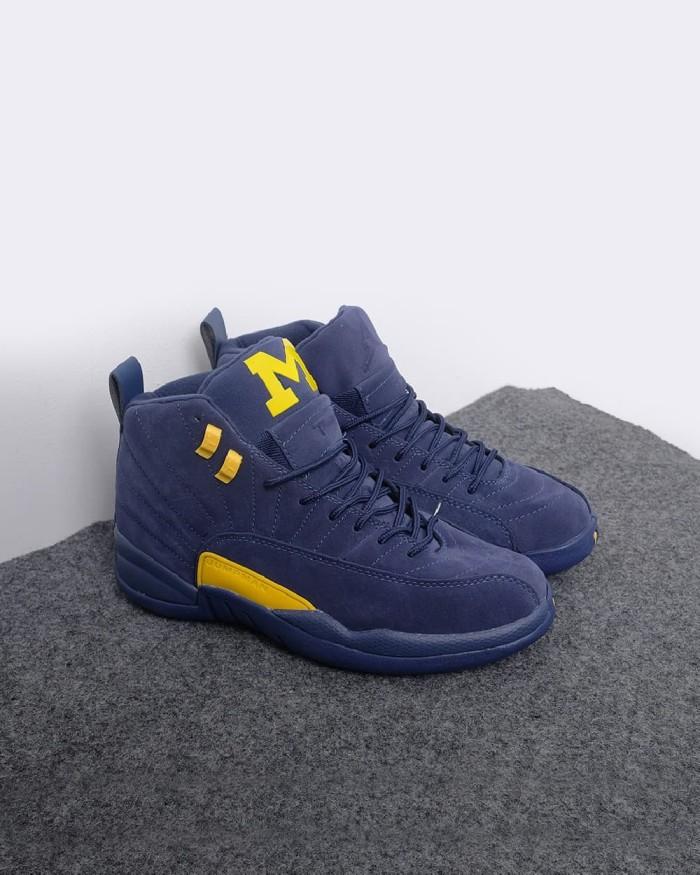 pretty nice 6504b 5be16 Jual Air Jordan 12 Michigan - Blue Yellow - Kab. Tangerang - pickyourshoes  | Tokopedia