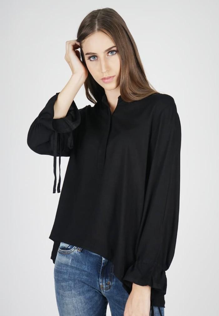 Lois jeans original - blouse wanita kc572 - hitam m