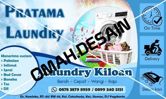 Design Banner Desain Banner Laundry Murah