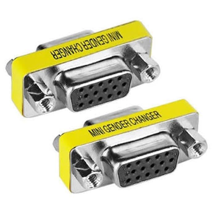 Foto Produk Konektor Sambungan Mini Gender Changer VGA 15 Pin Female To Female dari Solo Micro