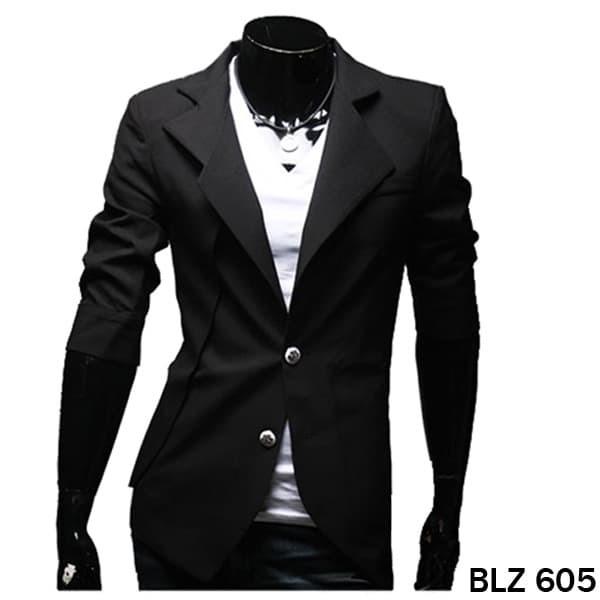 harga Blazer korea casual slim fit pria premium blz 605 - hitam m Tokopedia.com