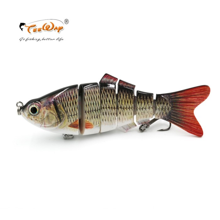 8 Segment Fishing Lure Swimbait Hard Bait Slow 14cm Fishing Crankbait Hook