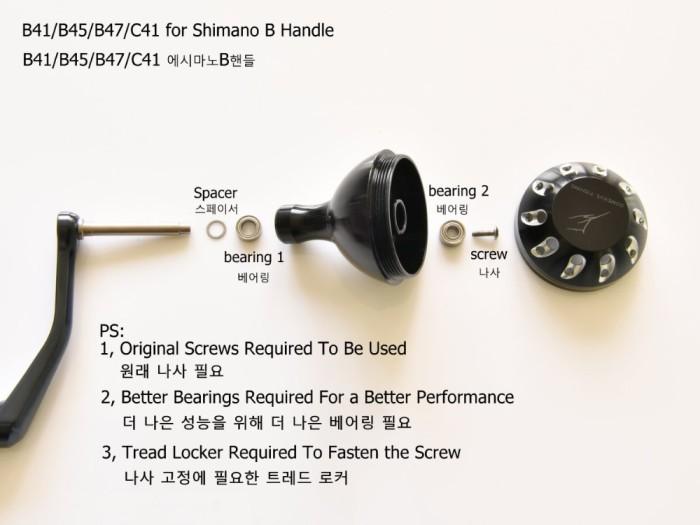 e6f23f47bc7 Gomexus Power Knob For Shimano Reel Handle Saragosa SW Twinpower SW