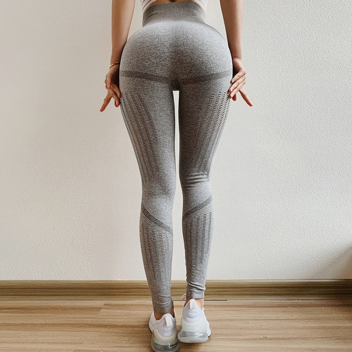 71e42a3f0ab Jual Monster 2019 Grey Blue Gym Tights Yoga Pants Women High Waisted ...