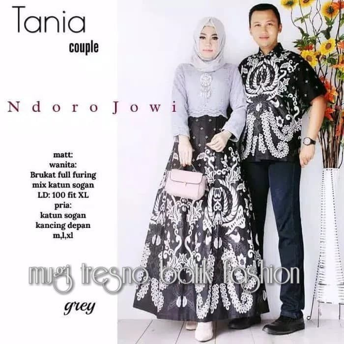 Harga Jual Batik Dress Couple Gamis Brokat Tania Di Surakarta