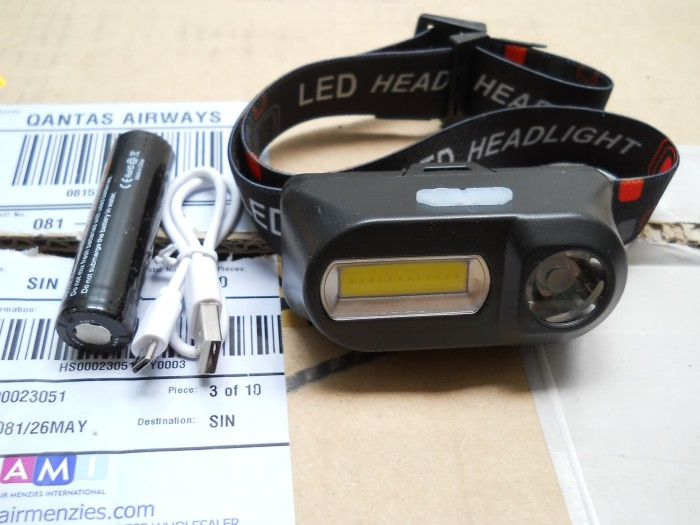Foto Produk SENTER KEPALA / HEADLAMP LED+COB ROTATE 45° w/ USB Rechargeable dari DO OFFICIAL STORE