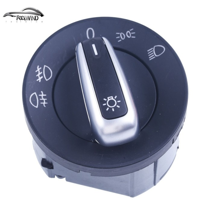 CHROME DETAIL FOR SEAT ALHAMBRA HEADLIGHT SWITCH WITH AUTO SETTING