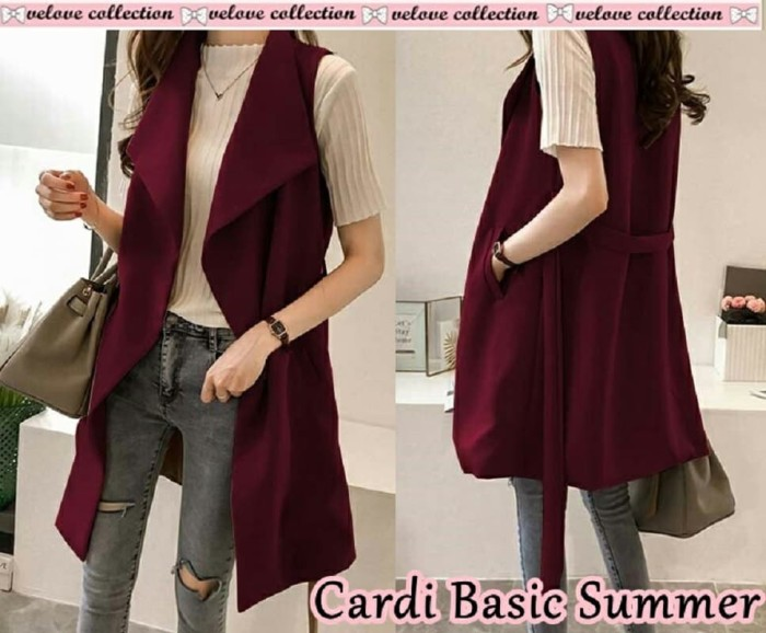 Foto Produk Cardi basic summer Maron [Outwear 0153] SB8 Cardigan dari Super Model