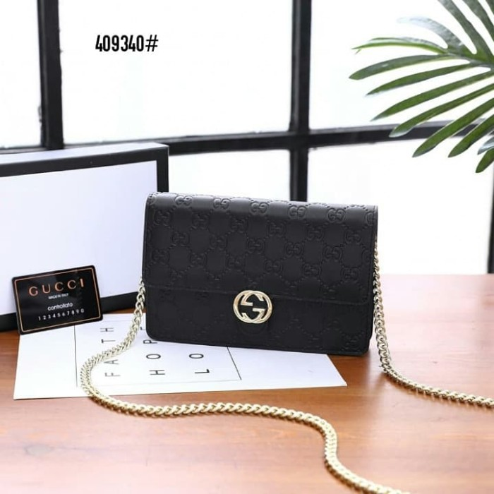 899b2afdbdc Jual Gucci Icon Gucci Signature Chain Wallet Kode 409340 - AUTHENTIC ...