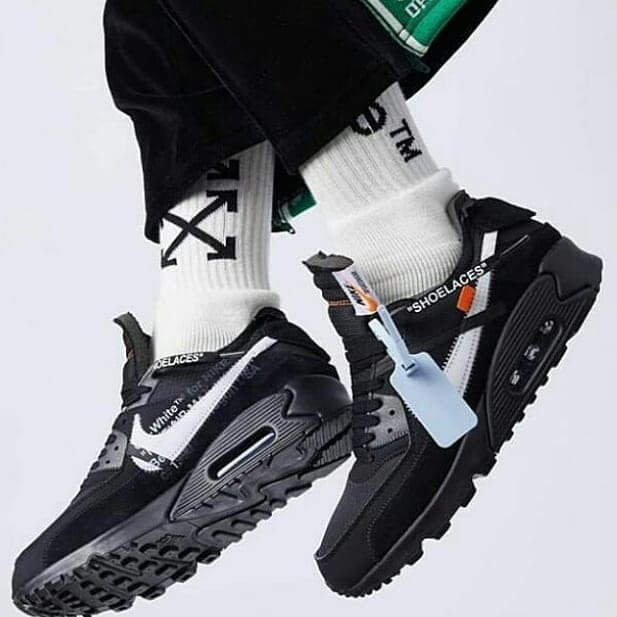 Jual SEPATU SNEAKERS OFF WHITE X AIR MAX 90 BLACK UNISEX ORIGINAL origi_sneakers23 | Tokopedia